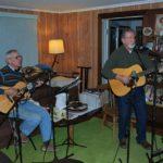 Still Kickin' Alumni, Bob Allen and Bob DiQuattro at recording session
