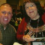 Fan Darren Nosal with Myrna